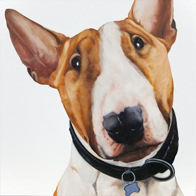 peinture chien bull terrier