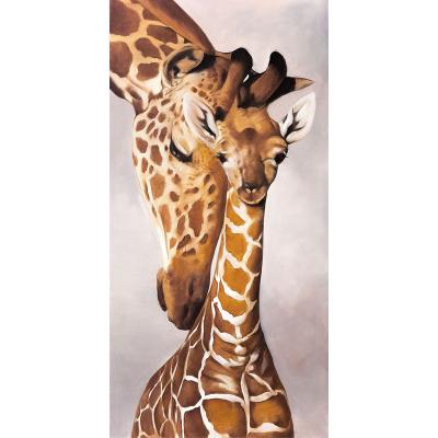 peinture 2 girafes