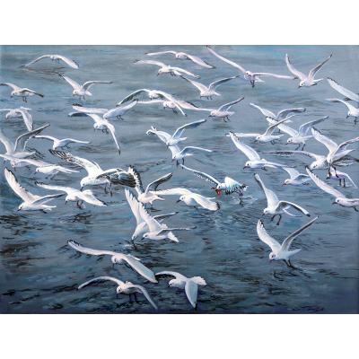 vol de mouettes - peinture Lookisfree