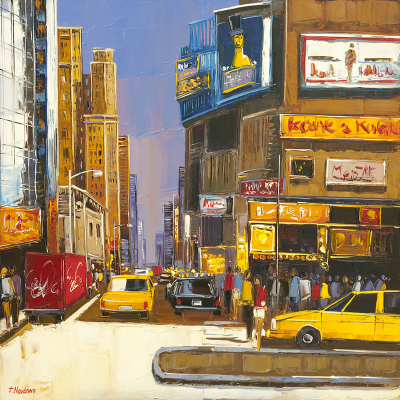 peinture shopping à Broadway par fabien Novarino