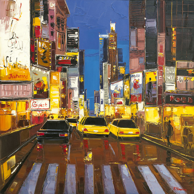peinture Times Square at night