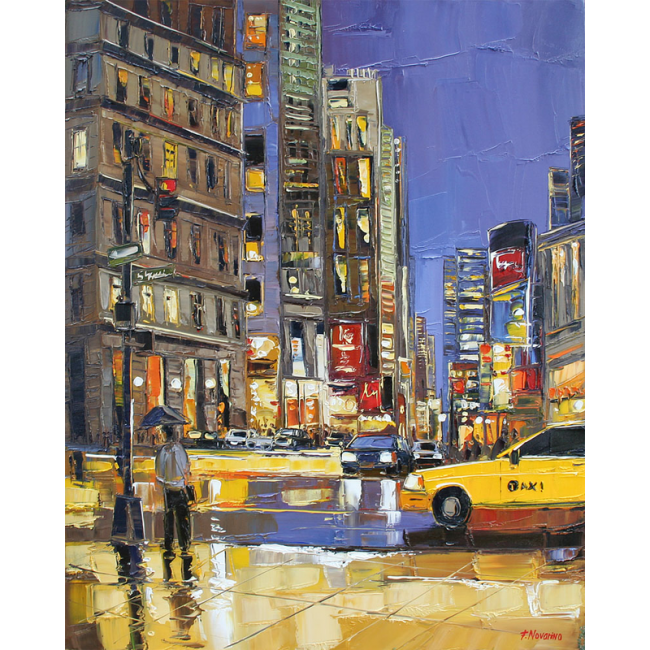 broaadway evening - peinture Fabien Novarino