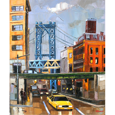 peinture manhattan bridge