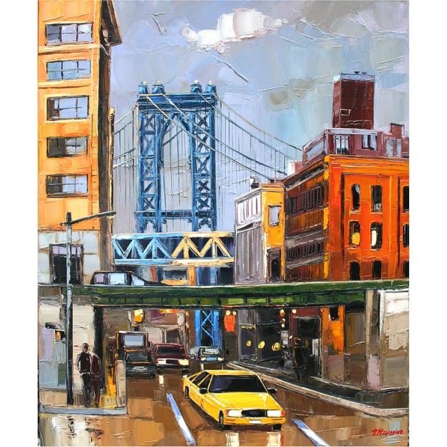 Manhattan bridge new york superbe peinture pour votre - Deco murale new york ...