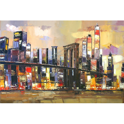 peinture manhattan lights